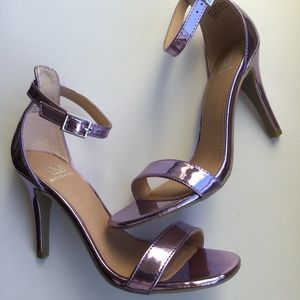 Material Girl Mirror Lilac Heels (New)